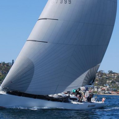 An Ullman Sails Cruising Code Zero sailing in San Diego