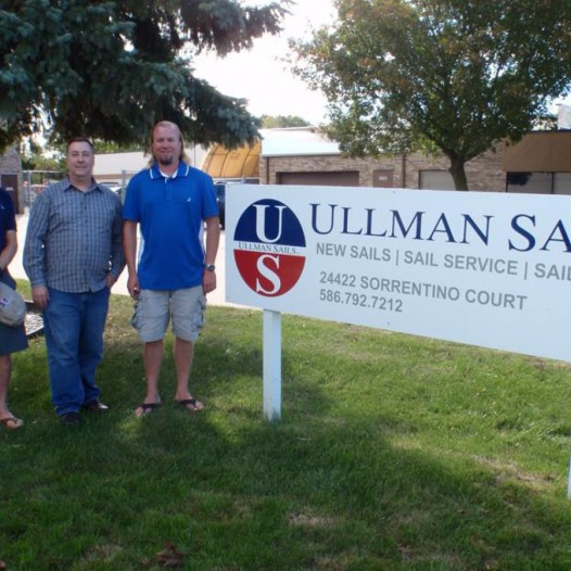 Wally Cross, Mike Boston, and Ian Pouliot of Ullman Sails Detroit