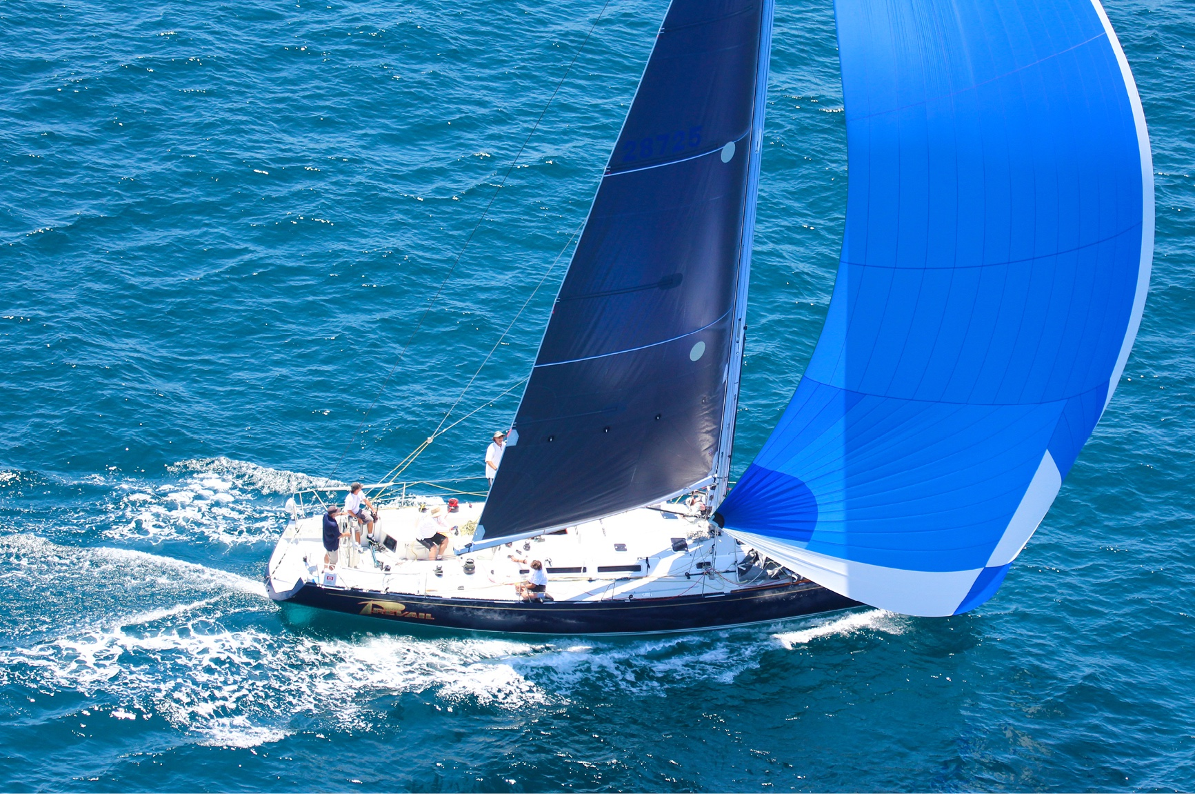 Santa Cruz 50 with Ullman Sails Red Line Spinnaker