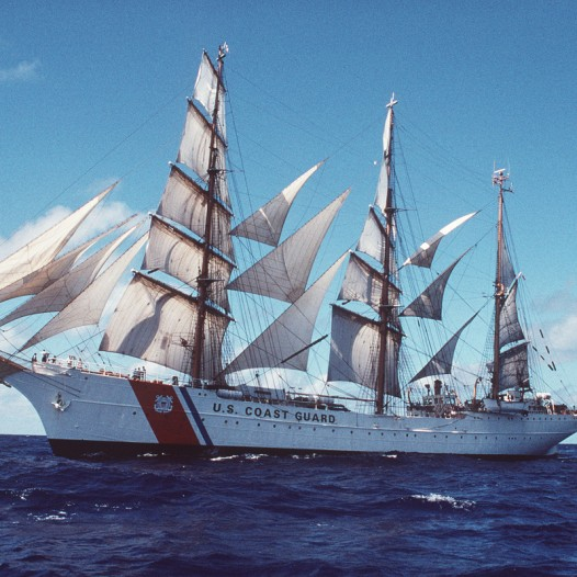 Ullman Sails has built many Classic Series Sails for the United States Coast Guard Cutter 'Eagle'