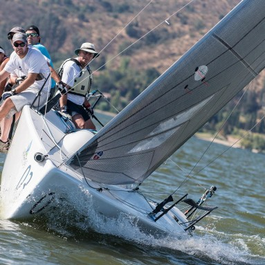 Ullman Sails Powered Melges 24 Racing Upwind