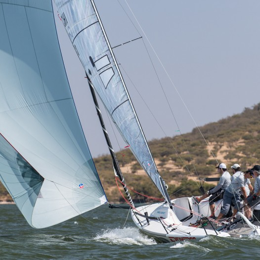 Ullman Sails Melges 24 customers racing at the Chilean National Championships featuring a FiberPath Inventory