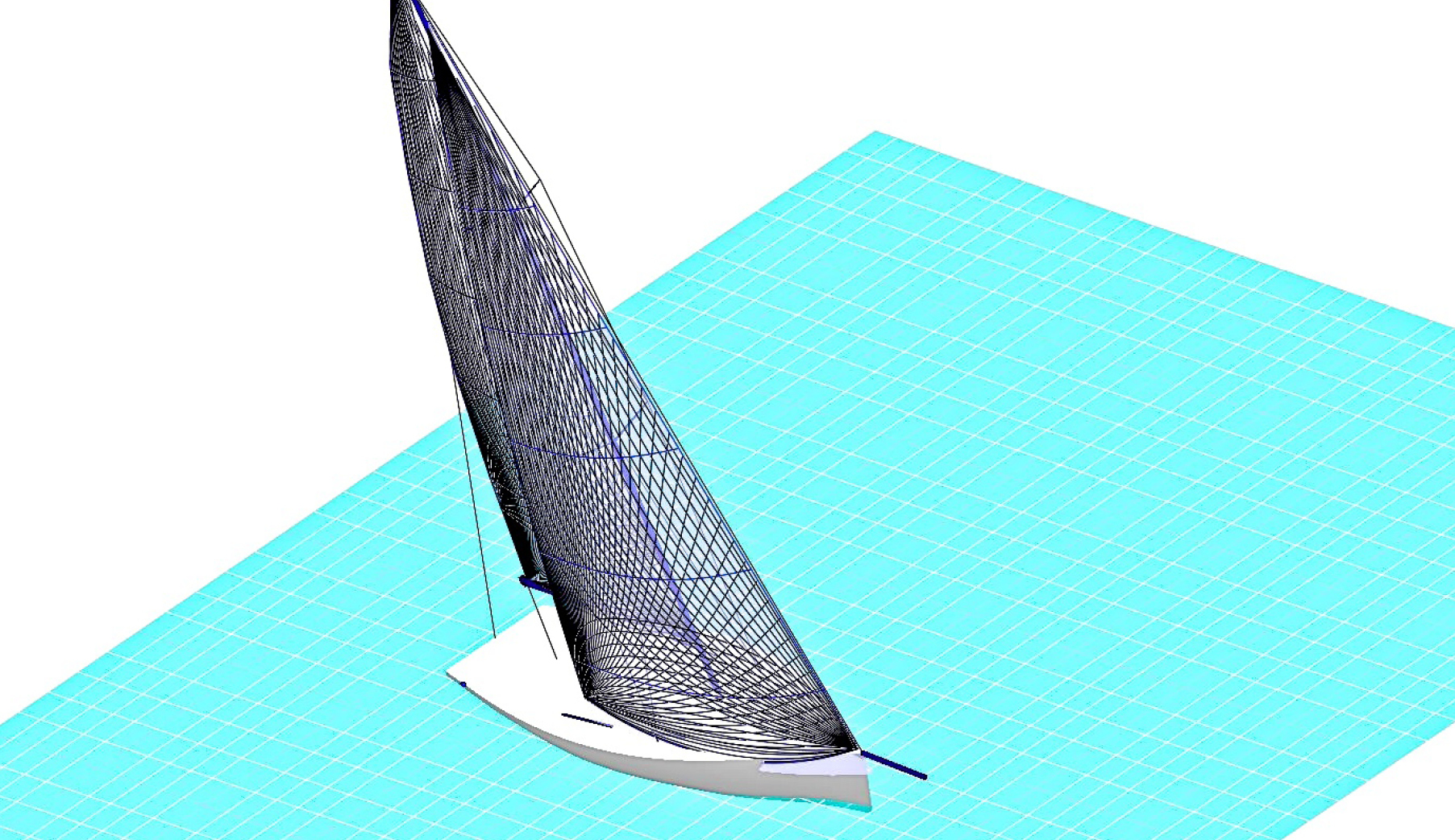 A graphic rendering of a FiberPath Sail using design software from http://www.smar-azure.com/