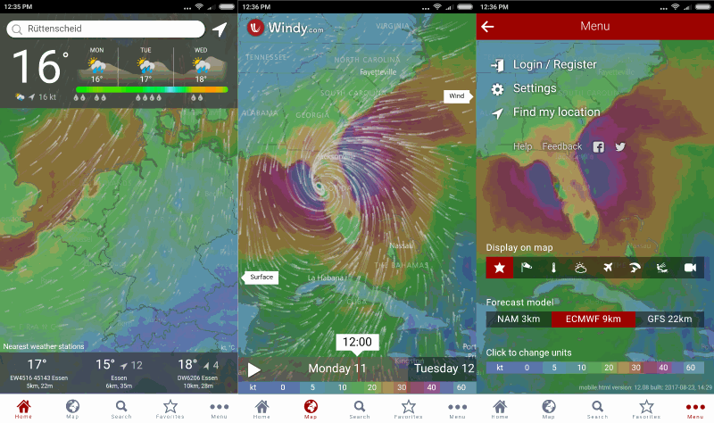 windy weather app